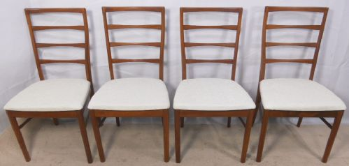 Set of Four Teak Retro Style Dining Chairs